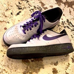Nike Air Force 1 Purple Wolf Gray Court Sneaker 12